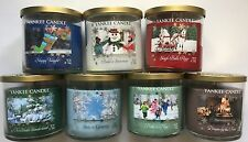 YANKEE CANDLE WINTER WONDERLAND COLLECTION SET of 7-12.5 OZ  2- WICK TUMBLERS