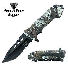 Snake Eye Tactical Action Assist Camouflage Designed Folding Pocket Knife