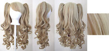 20'' Lolita Wig + 2 Pig Tails Set Blonde, Brown Mix Blend Cosplay Gothic Sweet