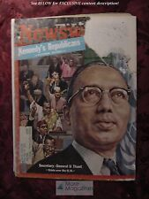 NEWSWEEK mag January 29 1962 U THANT UNITED NATIONS +++