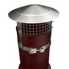 "Anti Bird/Rain Chimney Cowl Stainless Steel 1"" Mesh,Coal Wood Peat Turf for Fuel"