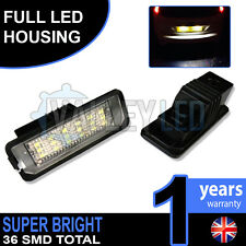 Seat Leon Mk2 FR 1P1 05-12 Complete LED Number Plate Housings Canbus Bright