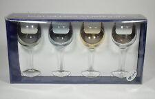 Piccadilly set 4 Bicchieri in vetro colorato in box originale glass H20,5 -0E9