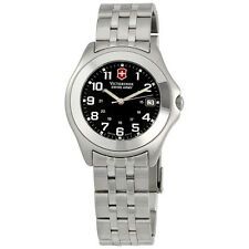 Victorinox  swiss army watch 26841 companion watch black face,stainless strap