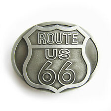 NEW ROAD SIGN ROUTE US 66 HIGHWAY SILVER COWBOY WESTERN BELT BUCKLE