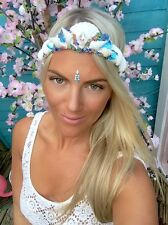 Blue Diamond Mermaid Shell Crown Hair Band Choochie Choo Hippy Bohemian Beach