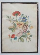 ANCIENNE AQUARELLE - ANNEES 1880 - FLEURS - SIGNEE M L
