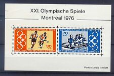 W Germany 1976 Olympic Games Montreal mini sheet SG MS1781 MNH