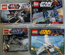 Lego Star Wars Minis 30051 30056 8028 30246 X-Wing Tie Fighter Destroyer Shuttle