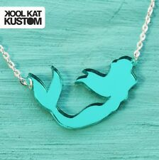 MEERJUNGFRAU Kette Mermaid Necklace Sommer Kawaii Unicorn Maritim Halskette GRÜN