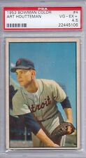 1953 Bowman Color # 4 Art Houtteman VG EX+ PSA 4.5