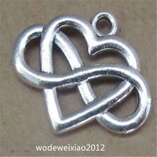 10pc Charms Heart Infinity Friendship Pendant Beads Jewellery Findings JP946