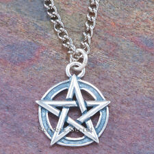 925 sterling silver interwoven PENTACLE PENTAGRAM Wicca Charm Pendant Necklace