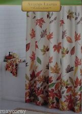Autumn Leaves Harvest Cacading Leaves Fabric Shower Curtain 70x70 NIP