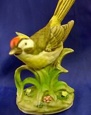 "Unknown Bird 4.5"" Tall Matte Finish Porcelain Figurine Lefton Red Seal ?Oriole?"