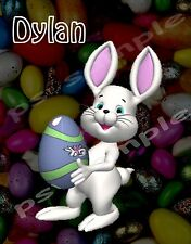 Easter Bunny # 3 - Flexible Fridge MAGNET - PERSONALIZED FOR FREE