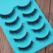 Girl 5 Pairs Cross Natural Eye Lashes Extension False Eyelashes Cosmetics