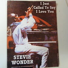 songsheet I JUST CALLED TO SAY I LOVE YOU Steve Wonder 1984