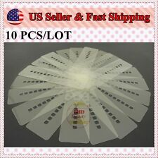 10 pcs Square Heat Protector Shields for Hair Extension Ring Connection Tools