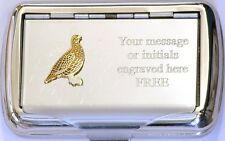 Grouse Enamel Tobacco Hand Roll Ups Cigarette Tin Game Bird Shooting Gift