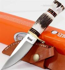 Marbles Knives Small Hunter Genuine Stag Bone Skinning Hunting Knife w/Sheath