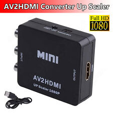 Input RCA AV to HDMI Output Converter Adapter Composite AV2HDMI Cable Lead HDTV