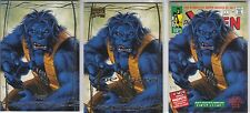 2016 Marvel Masterpieces #59 BEAST Base, Gold, What If (3 card set)