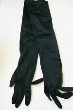 VTG Finale Satin Lovers Ladies Black Over Elbow Gloves Nylon One size fits all