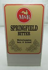 M&B BREWERY SPRINGFIELD BITTER SHOW CARD WOLVERHAMPTON PUB DISPLAY VINTAGE c80s*