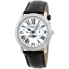 Frederique Constant Classics White Dial Leather Strap Men's Watch FC270M4P6