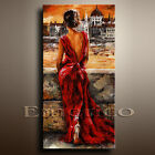 CANVAS OIL PAINTING MODERN ABSTRACT WALL DECOR ART Abstract girl 24x36(NO FRAME)