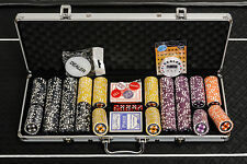 WPC Poker Chips Set - 500 Piece Numbered Poker Set with Free Accessories
