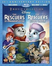 The Rescuers & The Rescuers: Down Under - 2 Movie Collection [Blu-ray + DVD] NEW