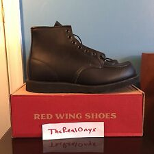 "Red Wing 6"" Moc Toe Boot Black Size 12"