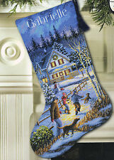 Cross Stitch Kit ~ Gold Collection Christmas Eve Fun Christmas Stocking #8805