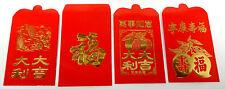 Chinese Red Money Envelopes 4 Packs of 40 Envelopes=160 Envelopes 4 Designs