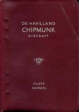 PILOT'S MANUAL: D.H. CHIPMUNK Mks 20-22a CIVIL AIRCRAFT+FREE 2-10 PAGE INFO PACK