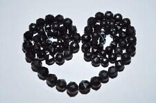 LOVELY VINTAGE STRING OF VICTORIAN WHITBY JET BEADS TO RESTRING