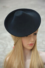 New Round Wool Felt Hat Millinery Supply Fascinator Base Cocktail Party KA264
