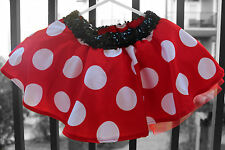 Adult Sizes-Red with Large White Poka dot skirt inspired by Minnie Mouse