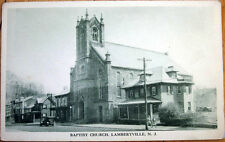 1930s Postcard: Baptist Church - Lambertville, New Jersey NJ