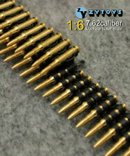 "50pcs/Set 1/6 Scale 7.62 Caliber Metal Machine Gun Bullet Chain For 12"" Figures"