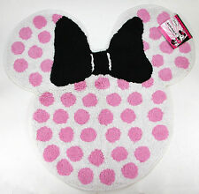 Disney Minnie Mouse Pink Polka Dot Bath Rug ~Brand New~