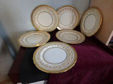 "AYNSLEY ENGLISH BONE CHINE ""GOLD DOWERY"" 6 X 7.25"" SIDE PLATES"
