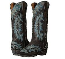 New Womens Yipee Kay Yay by Old Gringo Topeka Vesuvio Black/Blue Boot Size 7.5