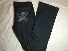 Womens The Cali By Juicy Couture Boot Low Rise Dark Jeans - Size 28 - Flashy PKT