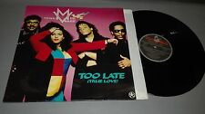 THE REAL MILLI/VANILLI-TOO LATE(TRUE LOVE)-VINILO - PORTADA -VG + / DISCO VG +