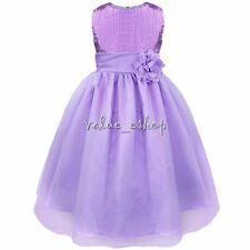 Flower Girl Dress Lace Wedding Bridesmaid Pageant Recital Graduation Ball Gown