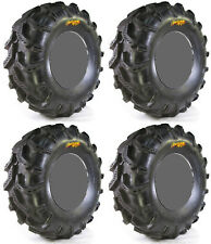 Four 4 High Lifter Outlaw MST ATV Tires Set 2 Front 27x9.5-12 & 2 Rear 27x12-12