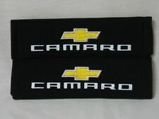 Embroidery Cool Black Seat Belt Cover Shoulder Pads Pair Chevrolet Camaro NEW!!!